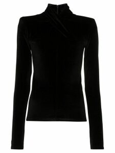 Richard Quinn twisted velvet top - Black