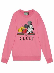 Gucci x Disney Mickey crew neck sweater - PINK