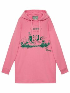 Gucci x Disney Mickey and Minnie print hoodie - PINK