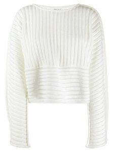 Falke textured panel jumper - White