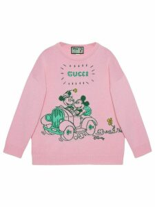 Gucci x Disney Mickey and Minnie jacquard jumper - PINK
