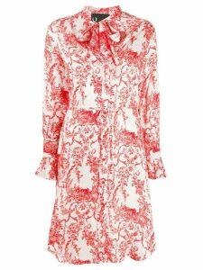 8pm floral print shirt dress - White