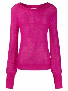 Patrizia Pepe slim-fit crochet jumper - PINK