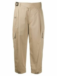 Dolce & Gabbana cropped cargo trousers - NEUTRALS