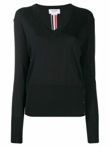 Thom Browne tri-stripe intarsia knit jumper - Blue