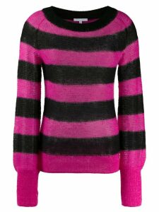 Patrizia Pepe striped crocheted jumper - PINK