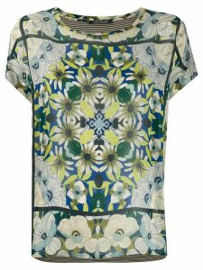 Luisa Cerano floral print T-shirt - NEUTRALS