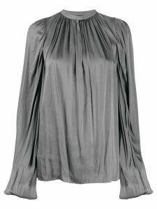 Rochas satin draped blouse - Grey