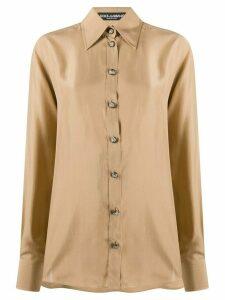 Dolce & Gabbana classic silk shirt - NEUTRALS