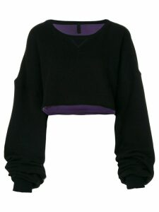 UNRAVEL PROJECT cropped sweatshirt - Black