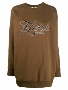 Fendi Karligraphy logo sweatshirt - Brown