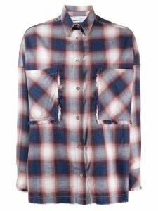 IRO oversized check shirt - PINK
