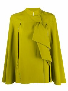 Alberta Ferretti ruffled cape blouse - Green