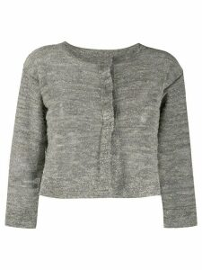 Fabiana Filippi lurex knit cropped cardigan - NEUTRALS