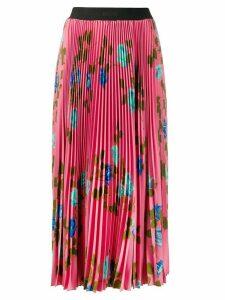 MSGM rose-print pleated skirt - PINK