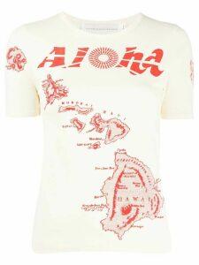 Victoria Victoria Beckham Aloha T-shirt - NEUTRALS