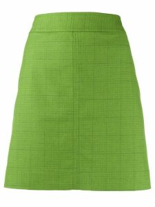 See by Chloé check print skirt1 - Green