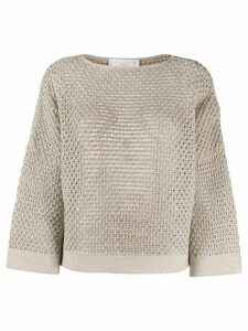 Fabiana Filippi open knit jumper - NEUTRALS