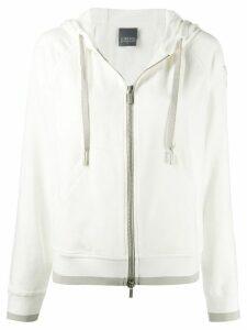 Lorena Antoniazzi star appliqué hoodie - White