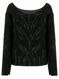 Ermanno Scervino rhinestone embellished jumper - Black