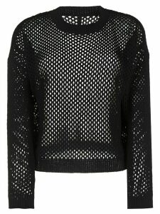 Sara Lanzi crocheted silk jumper - Black
