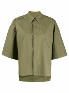 A.F.Vandevorst short-sleeve oversized shirt - Green
