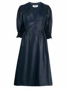 MSGM faux-leather midi dress - Blue