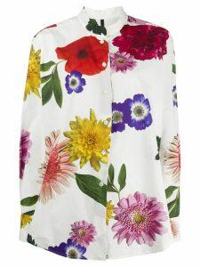 Sara Lanzi floral print shirt - White