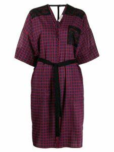 A.F.Vandevorst plaid tie-waist midi dress - Red