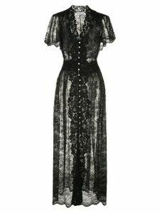 Paco Rabanne button-up lace dress - Black