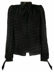 Saint Laurent polka dot printed blouse - Black