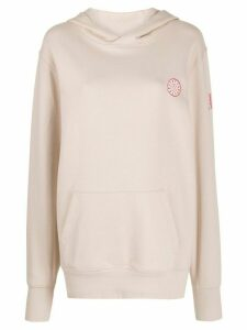 A.F.Vandevorst logo patch hoodie - NEUTRALS