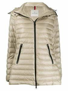 Moncler Menthe hooded jacket - NEUTRALS