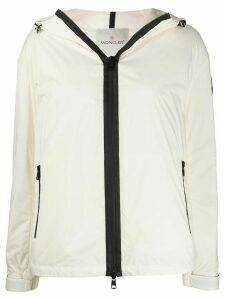 Moncler hooded puffer jacket - White