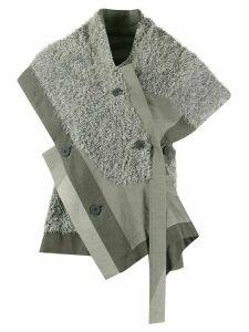 132 5. Issey Miyake faux fur asymmetric blouse - Grey
