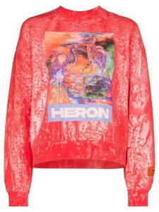 Heron Preston birds print sweatshirt - PINK