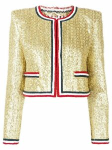 Thom Browne Memaid Sequin Cardigan Jacket - GOLD