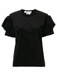 Comme Des Garçons Comme Des Garçons ruffled sleeve blouse - Black
