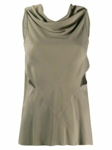 Rick Owens draped neck blouse - Grey