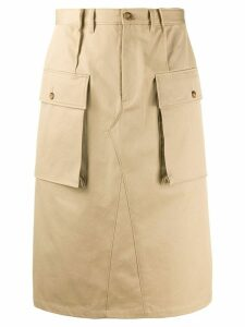 Maison Margiela knee-length cargo skirt - NEUTRALS