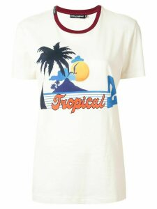 Dolce & Gabbana tropical print T-shirt - White