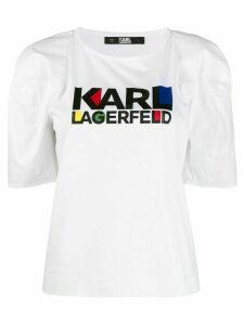 Karl Lagerfeld Bauhaus logo T-shirt - White