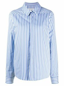 Jil Sander striped poplin shirt - Blue