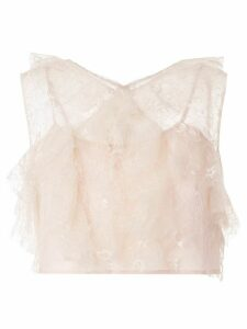 Alice McCall Floyd ruffled sleeveless top - PINK