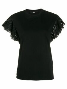 Karl Lagerfeld Karl ruffle T-shirt - Black