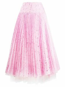 Ermanno Scervino lace pleated skirt - PINK
