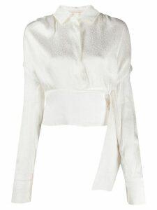 Matériel leopard print blouse - White
