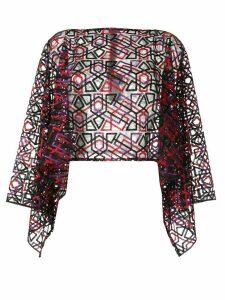 Emporio Armani embroidered sheer blouse