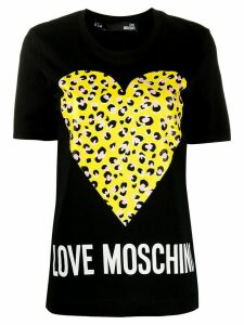 Love Moschino logo print T-shirt - Black