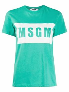 MSGM graphic logo-print T-shirt - Green